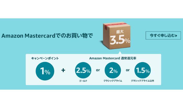 Amazonサイバーマンデー ポイントアップキャンペーン アマゾンマスターカード