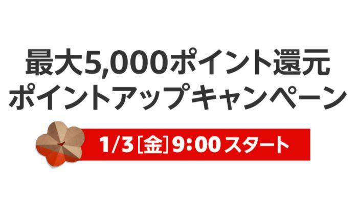 Amazon初売り2020 ポイントアップキャンペーン