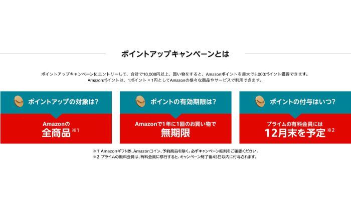 Amazonサイバーマンデー ポイントアップキャンペーン とは