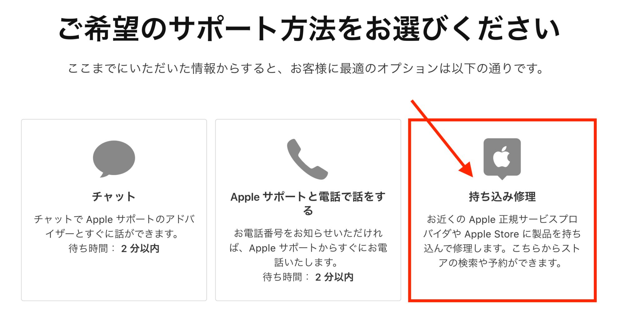 AppleStoreでGeniusに相談する