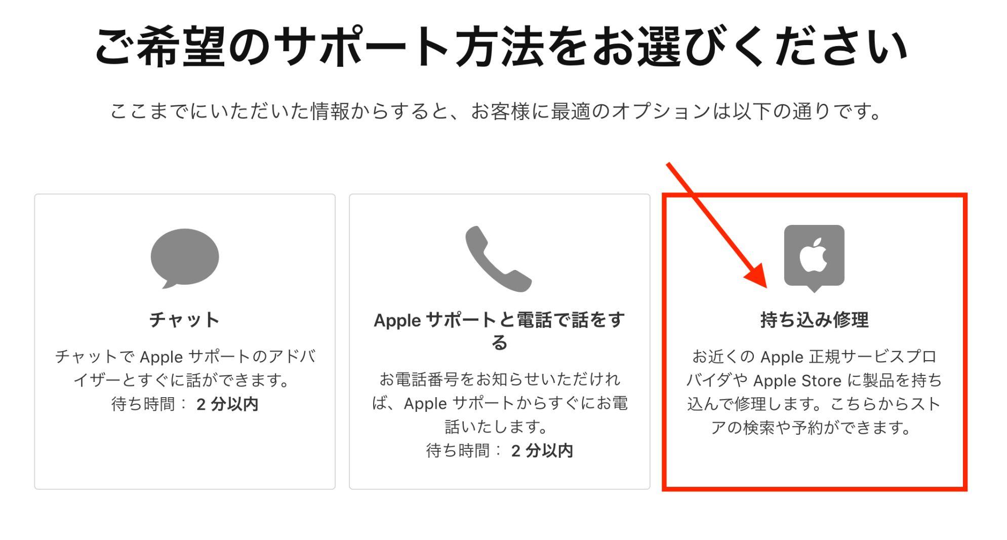 AppleStoreでGeniusに相談する方法3