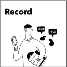 みんなの銀行 【Record】お金の管理